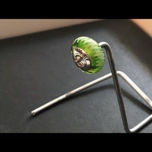 Pandora green ribbon murano